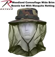 Boonie Hat Woodland Camo Military Boonie Hat With Mosquito Netting 5833