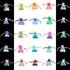 "50 Strong Organza Pouch 2x2.7"" 5x7cm Small Wedding Favor Gift Candy Bag Colors"