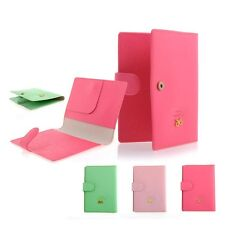 Men's Ribbon Document Holders Passport Holder Cover Case Cuties Green Pink Rosy