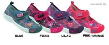 GIRLS CANVAS SHOES TRAINERS SNEAKERS VELCRO PUMPS UK size 8-12.5 /EU 26-31 FAB!