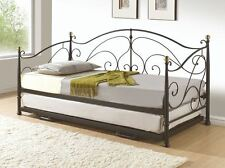 Happy Beds Milano Contemporary Metal Guest Bed Furniture Bedroom 2x Mattress New
