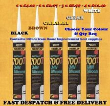 Silicone Sealant Everbuild 700T LMN White-Clear-Black-Caramel-Brown & Nozzel