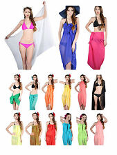 Beach Sheer Bikini Coverup Chiffon Sarong Wrap Pareo Oversize Summer Towel Dress