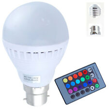 B22 E27 3W 5W LED Globe Bulbs RGB 16 Colors Changing  + IR Remote Controller