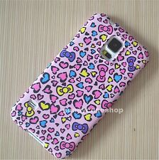 Cute pink leopard Love bow Fullbody hard case cover for samsung galaxy S5 note3