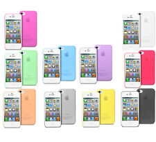 For iPhone 4 4G 4S Mobile Frosted Transparent Ultra Thin Hard back Case Cover