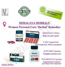 WOMEN CARE HERBAL REMEDIES MENOSAN Tabs EVECARE CapsV GEL Vaginal Gel PUNARNAVA