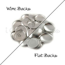 """Size 60 (1 1/2"""" - 38mm) Cover Buttons - Flat Back / Wire Back - Choose Quantity"""