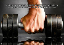 Body building, Gym, Muscle Inspirational / Motivational Poster, Various sizes