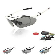 New Cycling Bike Polarized sports Sunglasses Goggle UV400 5 lens TR-90 Frame 100