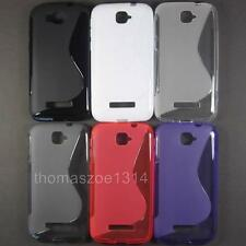TPU Soft Rubber Case Back Cover Skin Pouch For Alcatel Pop C7 One Touch OT 7041D