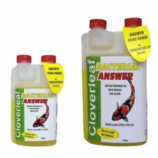 CLOVERLEAF BACTERIAL ANSWER POND TREATMENT KOI GOLDFISH WOUNDS ULCER INFECTIONS