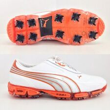 PUMA AMP CELL FUSION GOLF SHOES WHITE/VIBRANT ORANGE 186157 LEATHER  BRAND NEW!!