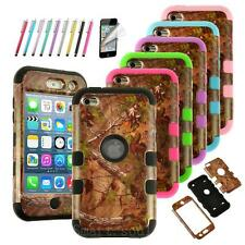 For ipod touch 4 4th Hybrid Camo Rubber Matte Hard Case Cover High Impact Cool