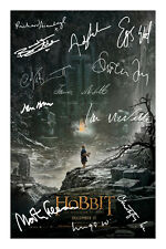 The Hobbit Signed Photo Autograph Desomation Of Smaug Full Cast Martin Freeman