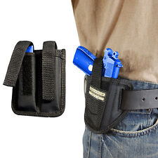 New Barsony Ambi Pancake Holster + Dbl Mag Pouch SIG Walther 380 Ultra Comp 9mm