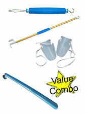 Button Hook Dressing Stick Aid Sock Aid Shoe Horn Combo Top Quality