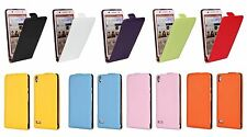 Genuine leather Flip Card Case Cover Open up Protector Skin For Huawei Ascend P6