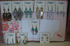 ONE NEW WITH TAG LICKY BRAND WOMEN EARRINGS WITH FREE GREEN GIFT BAG (PICK ONE)