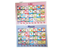 Childrens Kids A4 Plastic Educational Placemats Mat Personalised (Choose name)#2