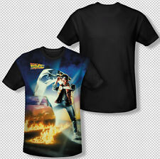 New Back To The Future Movie Poster Photo All Over Front Sublimation T-shirt Top