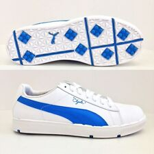 PUMA PG CLYDE GOLF SHOES  WHITE - BRILLIANT BLUE  185821  BRAND NEW!!