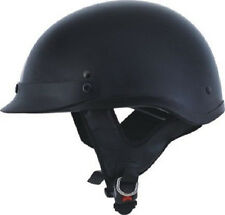 Polo Style Half Motorcycle Helmet DOT HCI 105 S M L XL XXL Gloss Black