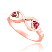 Rose Gold Infinity Birthstone CZ Infinity Ring Available in all 12 Month Colors