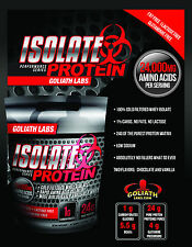 100% Whey Protein Isolate 5 lb - 3 Amazing Flavors From Goliathlabs