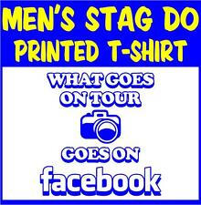 Men's Stag Do T-shirts -  What Goes On Tour Goes On Facebook