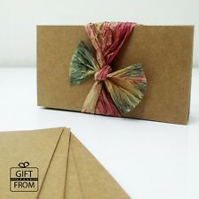 """Blank Cardstock Kraft Brown Business Cards(2 x 3.5"""")_Good for Escort Cards, Tags"""