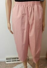 New Chic Comfort Collection Women's Reg. & Plus Pink Pull On Capr'is Choose Size