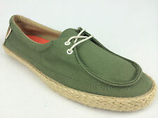 "VANS. ""Surf Siders"" RATA LO Women's Canvas Shoes. Olive GREEN. US W 10.5 & 11."