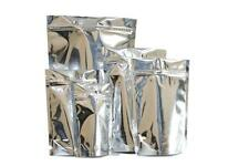 100 x Silver Stand Up Foil Sealable Seeds & Coffee Pouch Zip Lock Grip Heat Seal