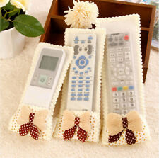 3 pcs New TV Air Conditioner Lace Bowknot Remote Control Cover Case Protector