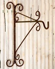 Wrought Iron Plant Hook - Wall Bracket for Hanging Lights or Planter Baskets