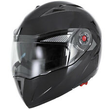 Black Modular Flip Up Gloss Dual Visor DOT Street Motorcycle Helmet - S/M/L/XL
