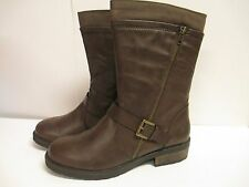 White Mountain Forfeit Motorcycle Bootie Boot  Dark Brown  New with Box