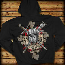 7.62 Design  Deus Vult - God Wills It  Men´s Hoodie Kapuzenpullover