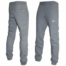 NIKE FLEECE JOGGER PANTS TRACK RUNNING FITNESS BOTTOMS CUFFED STITCHED LOGO