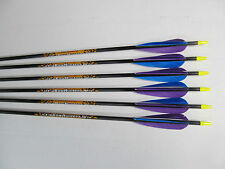 Easton Beman Bowhunter carbon arrows feather fletched set of 6