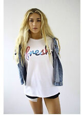 FRESH GALAXY TEE HIPSTER INDIE SWAG FUNNY T SHIRT TOP CLOTHING MEN'S WOMEN'S