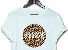 REEM LEOPARD TEE HIPSTER INDIE SWAG FUNNY T SHIRT DESIGN TOP CLOTHING MEN WOMEN