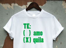 TEAMO VS TEQUILA TEE - SHIRT TOP HIPSTER SWAG  FUNNY COOL MENS WOMENS