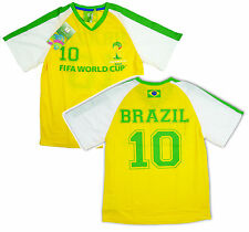 Kids FIFA 2014 World Cup Brazil Football Official T-Shirt Top Tee 8 to 16 Years