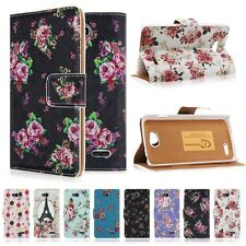 Patterned Flip Leather Stand Wallet Case Cover for LG Optimus L90 D410 D405 D415