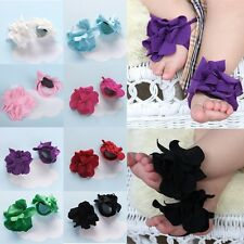 Baby Toddler Girl Cute Barefoot Flower Sock Sandals Shoes Toe Blooms for 0-12M
