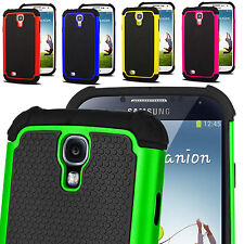 Dual Silicon Hard Shock Proof Defender Case Cover for Samsung Galaxy S4 i9500