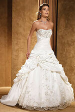 2016 Hot sale white/Ivory Wedding Dresses Gown Size 2-4-6-8-10-12-14-16-18-20++