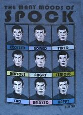 Star Trek The Many Moods of Spock Officially Licensed T-Shirt Tee Adult NEW TAGS